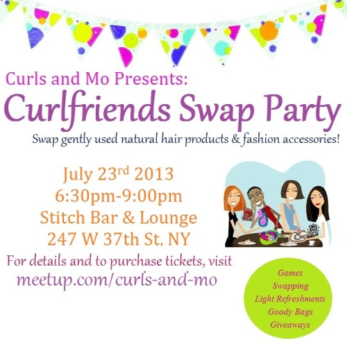 Curlfriends Swap Party Flyer